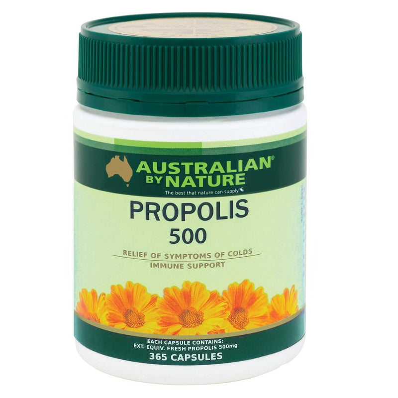 Australian By Nature Propolis Capsules 500mg  365's