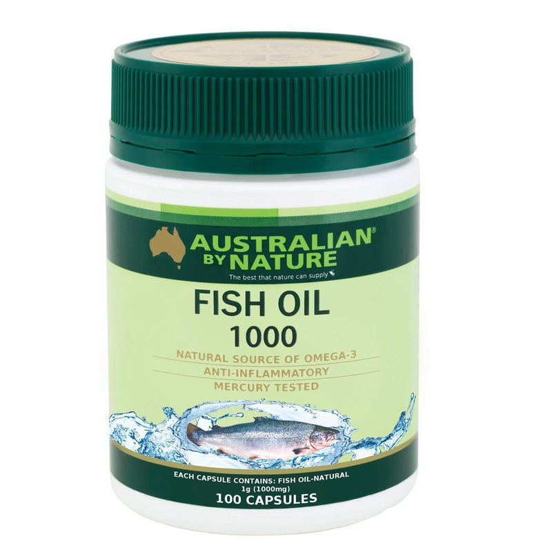 Australian By Nature Omega 3 Fish Oil 1000mg 100's