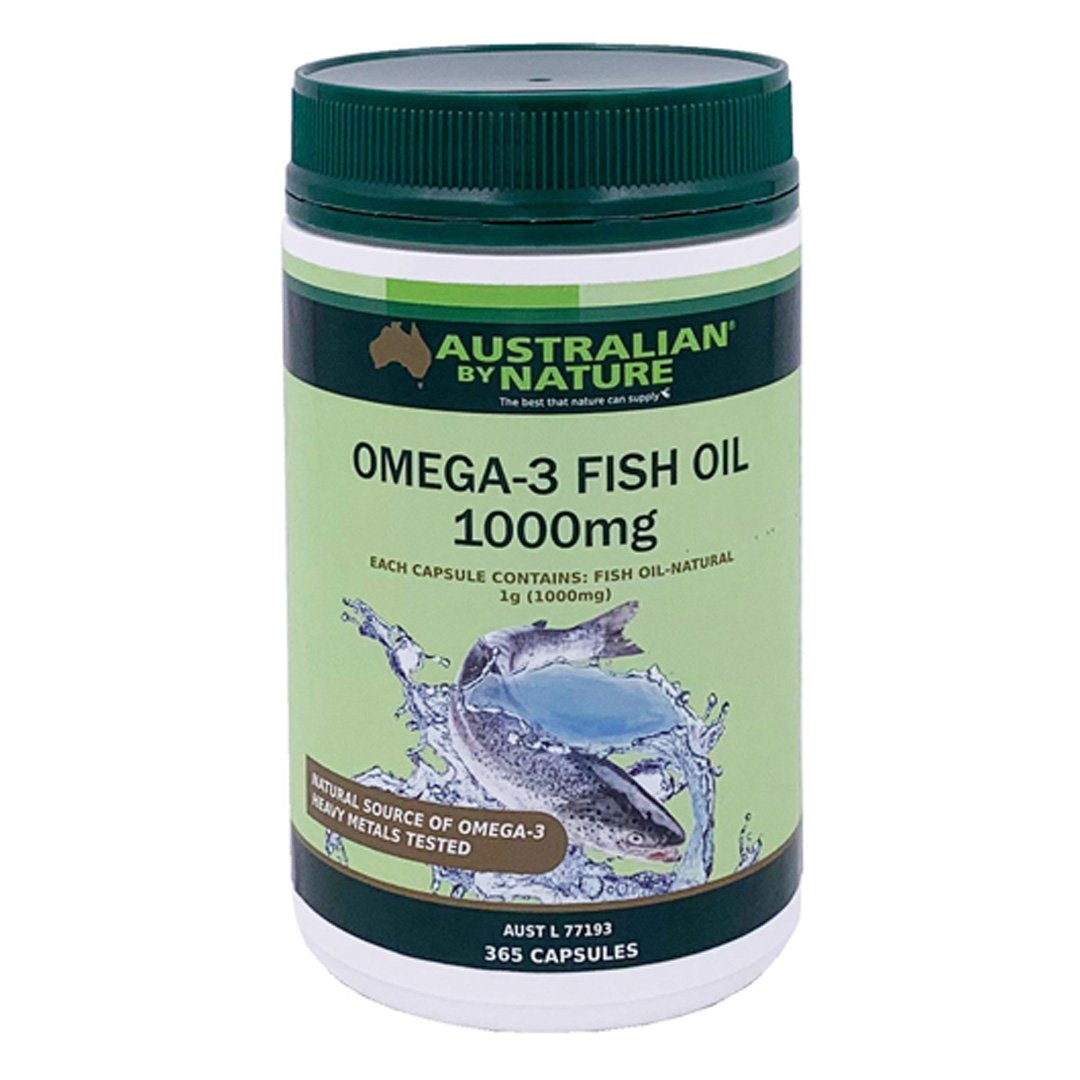 Australian By Nature Omega 3 Fish Oil 1000mg 365's