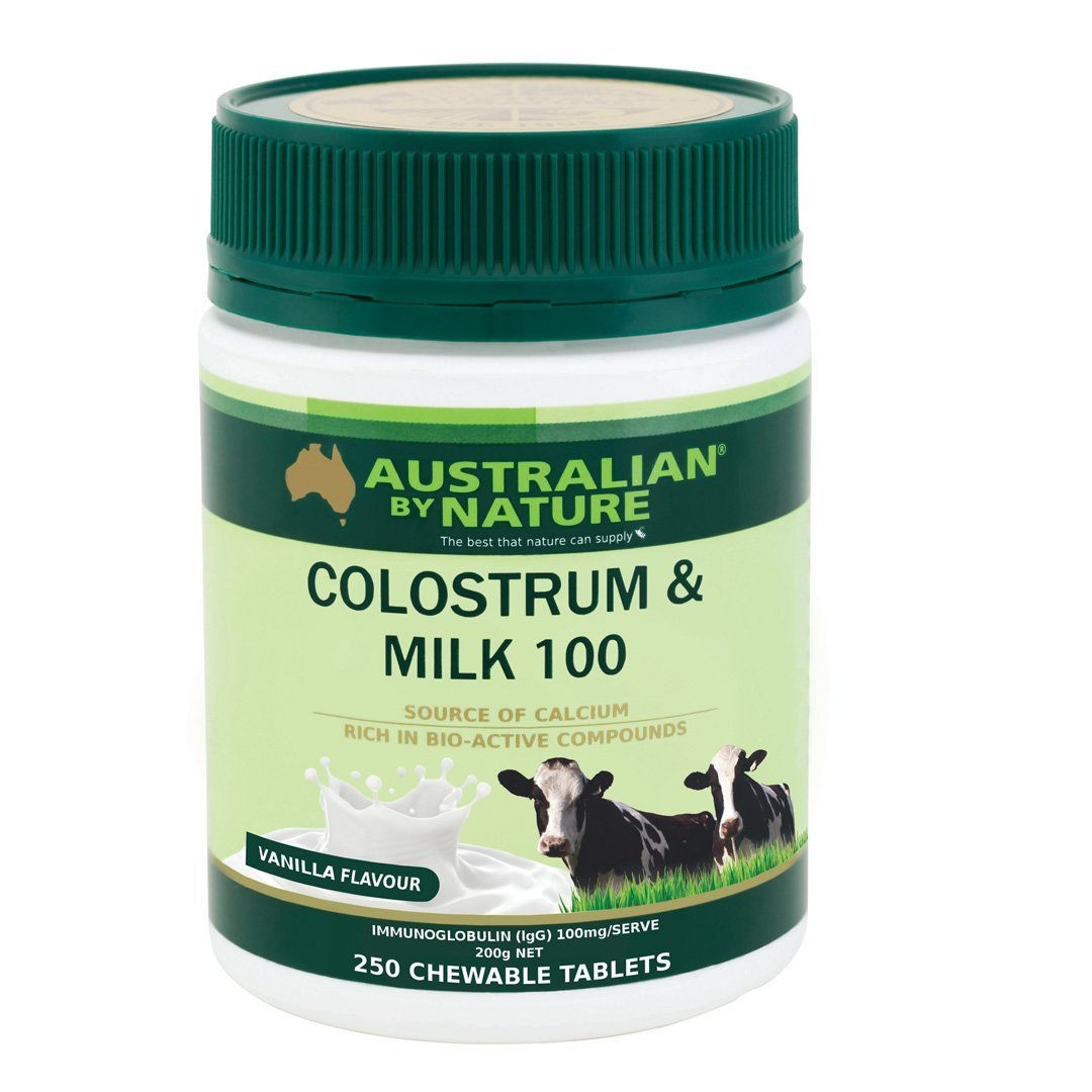 Australian By Nature Colostrium Milk 100mg (Vanilla Flavoured) 50 lgG 250's