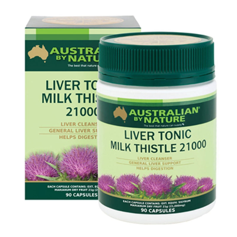 Australian By Nature Liver Tonic Thistle 21000mg 90's
