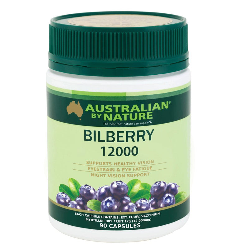 Australian By Nature Bilberry 12000mg 90's