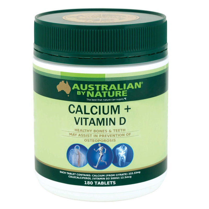 Australian By Nature Calcium 1500 + Vitamin D500iu 180's