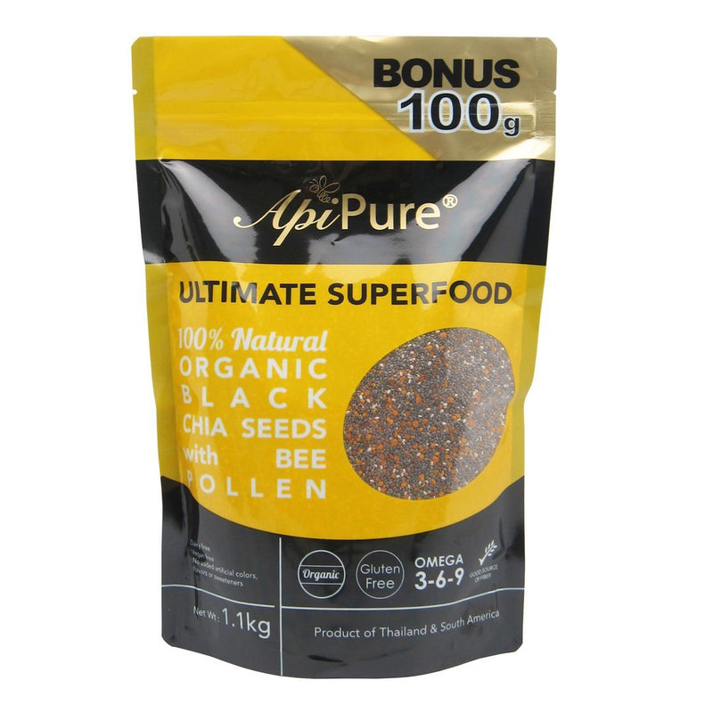 ApiPure Organic Black Chia Seeds & Bee Pollen, 1.1kg