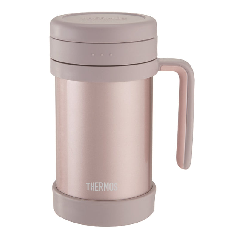 Stainless Steel Mug with Handle and Strainer 0.5L