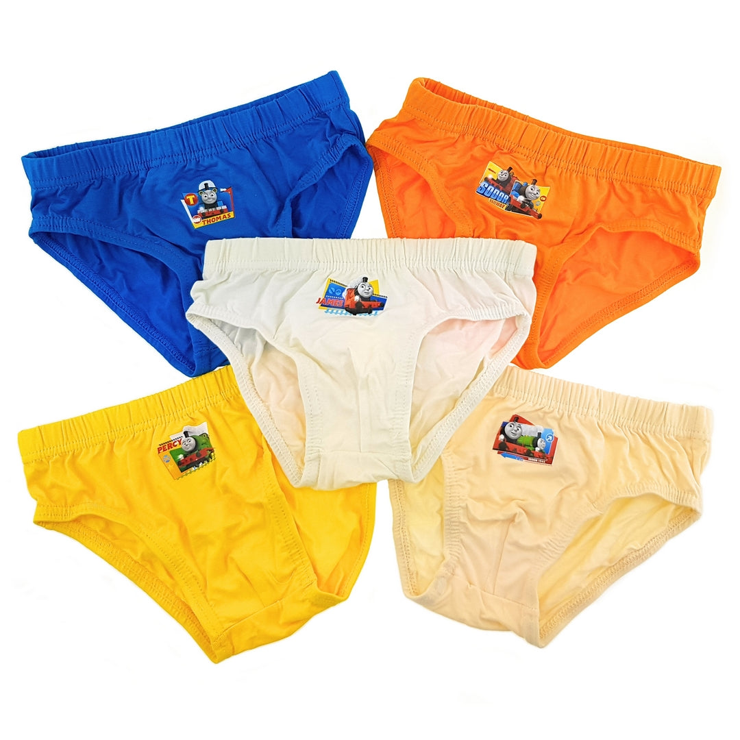 Thomas & Friends Boys Briefs (5-Pack Set) - Blue/Orange/Yellow/White