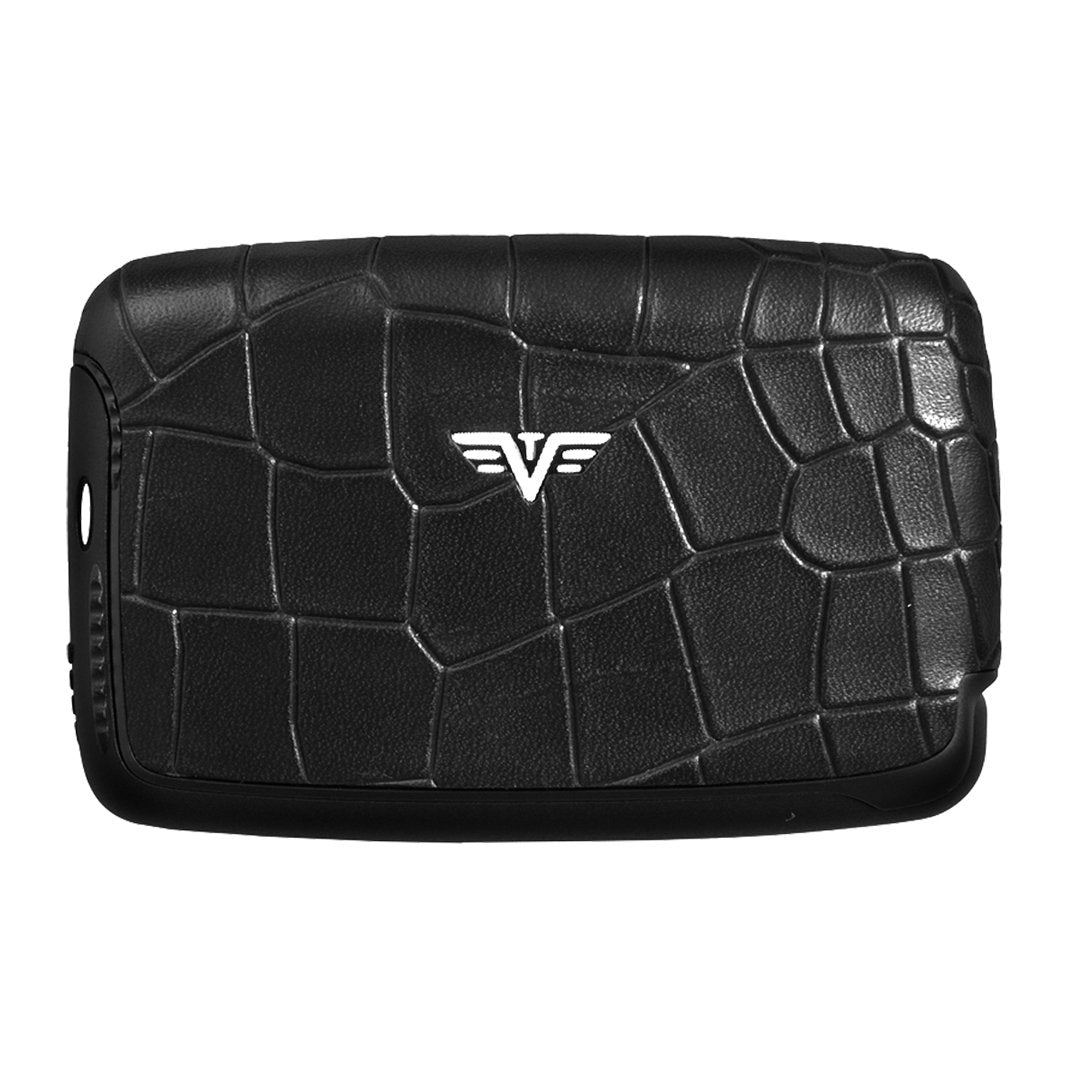 Card Case Croco Black