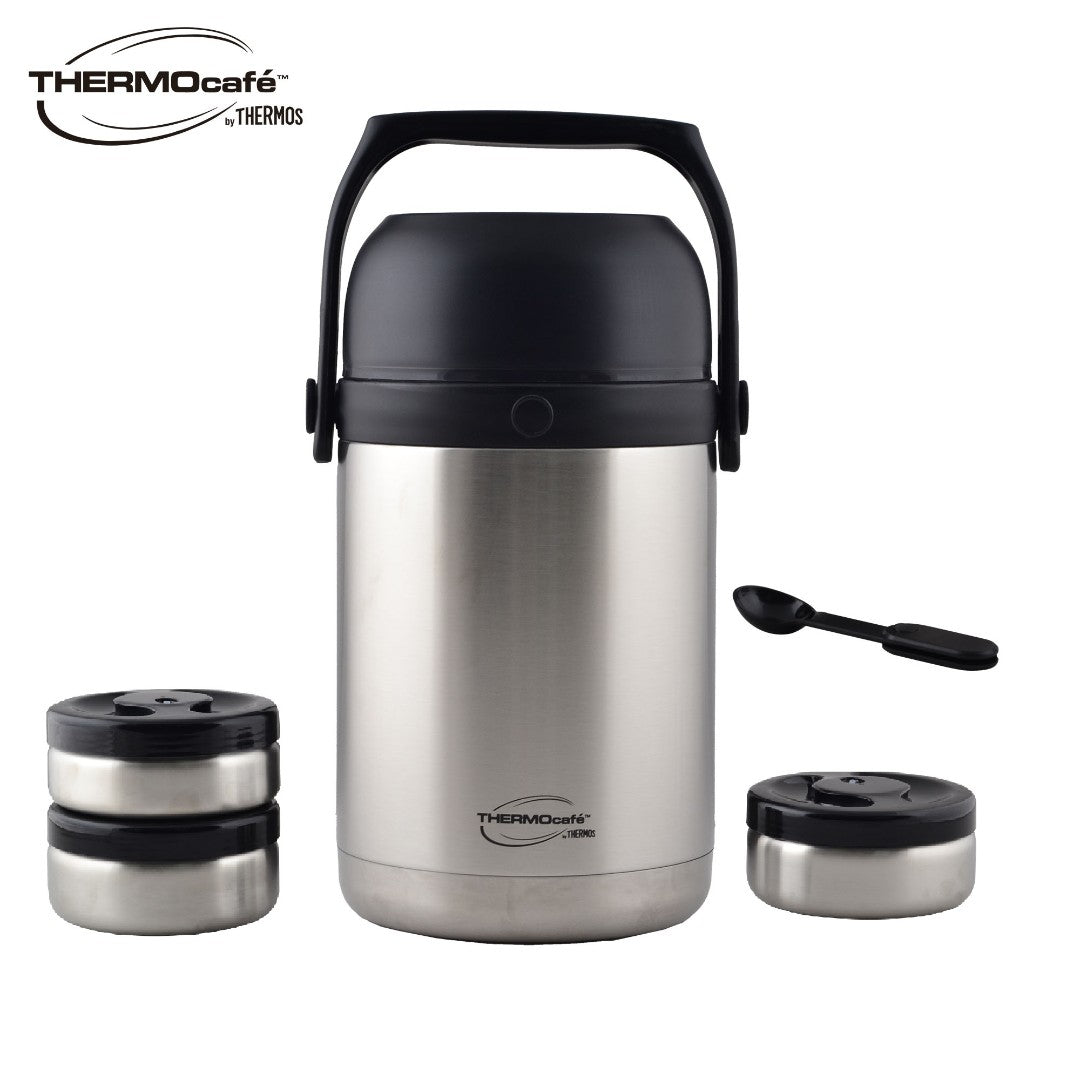 1.8L Stainless Steel Vacuum Insulated Lunch Jar with Spoon