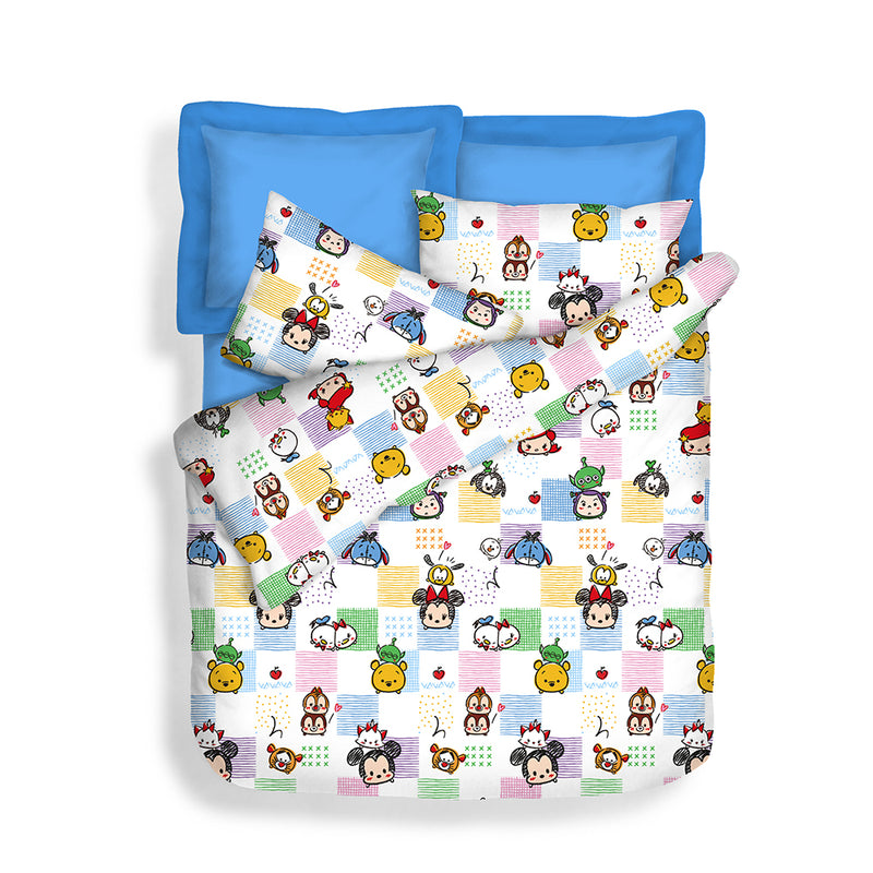 Disney 900TC 100% Microluxe Fitted Sheet Set (Tsum Pals)