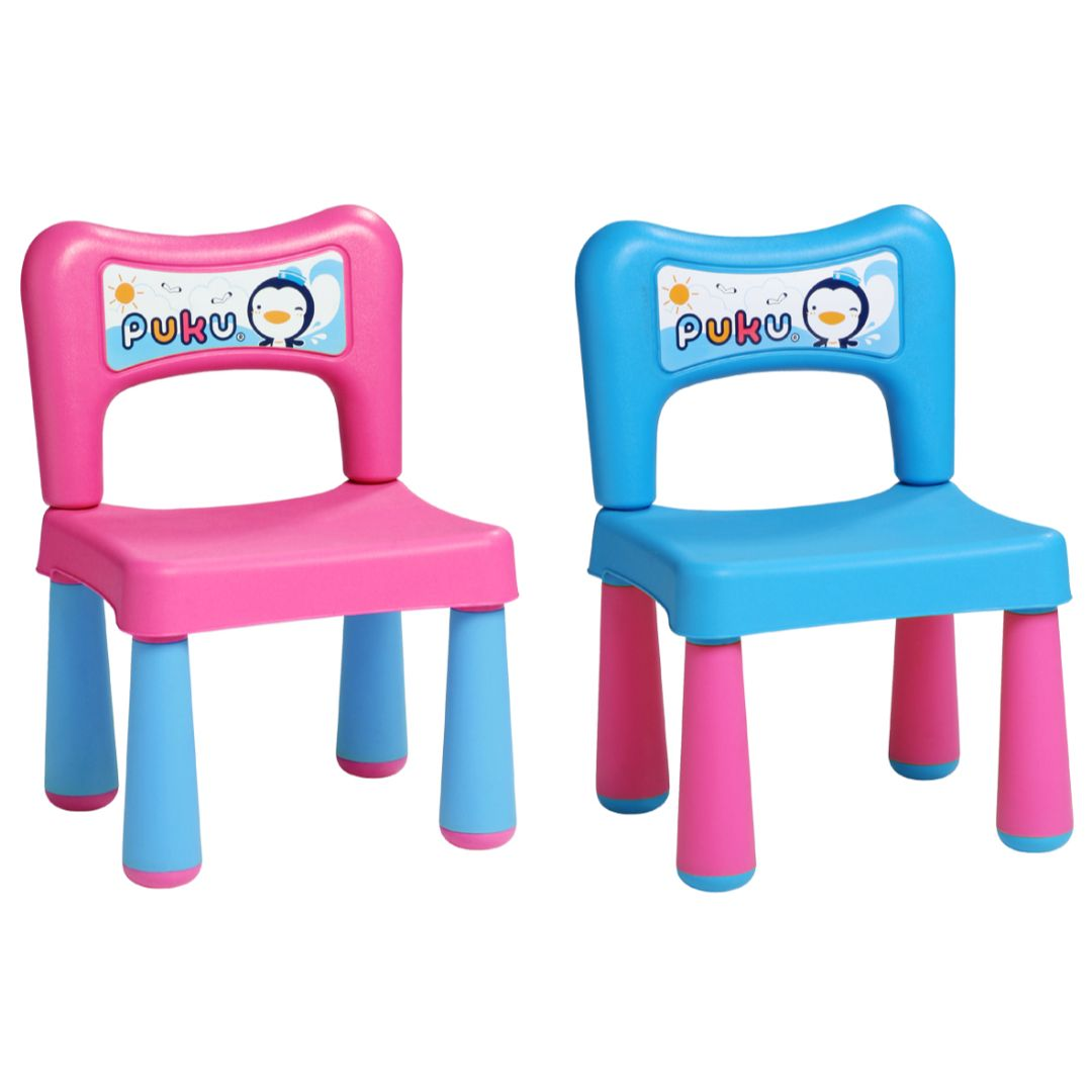 Table & 2 Chairs Set (L) (Assorted Color)