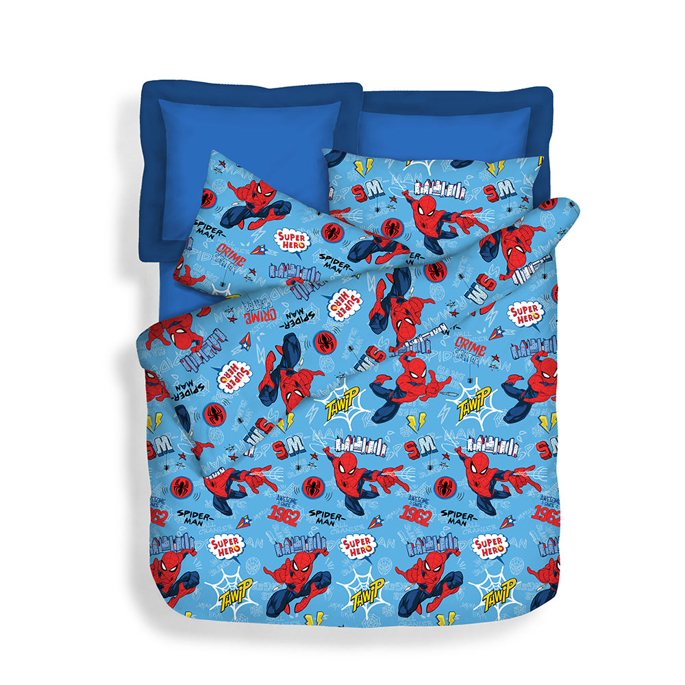 Disney 900TC 100% Microluxe Fitted Sheet Set (Web Slinger)