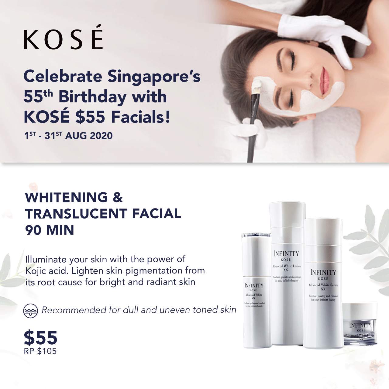 Whitening & Translucent Facial SG55