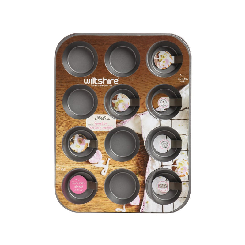 Two Toned 12 Cup Muffin Pan (Pink)