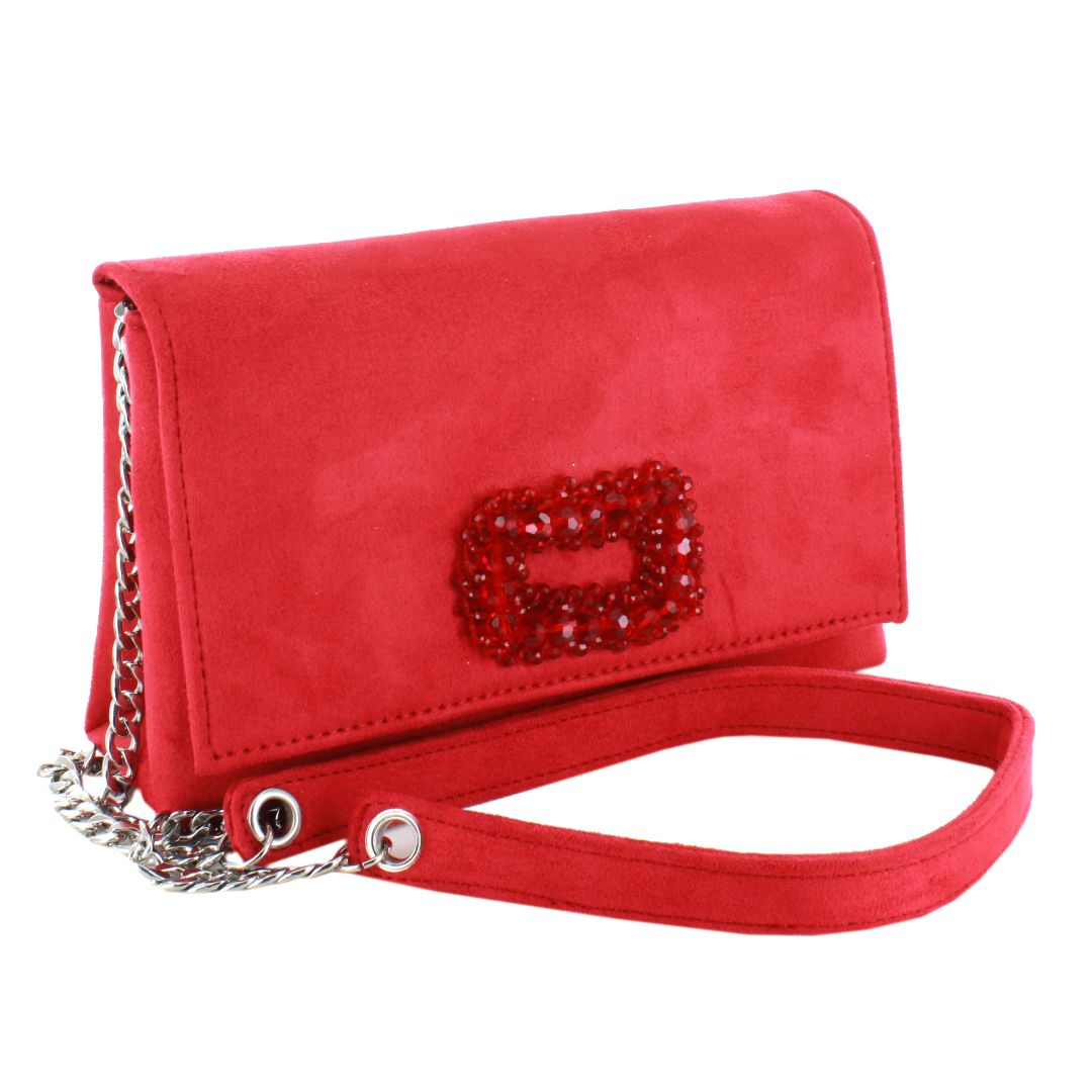 Suede Sling Purse (Red)