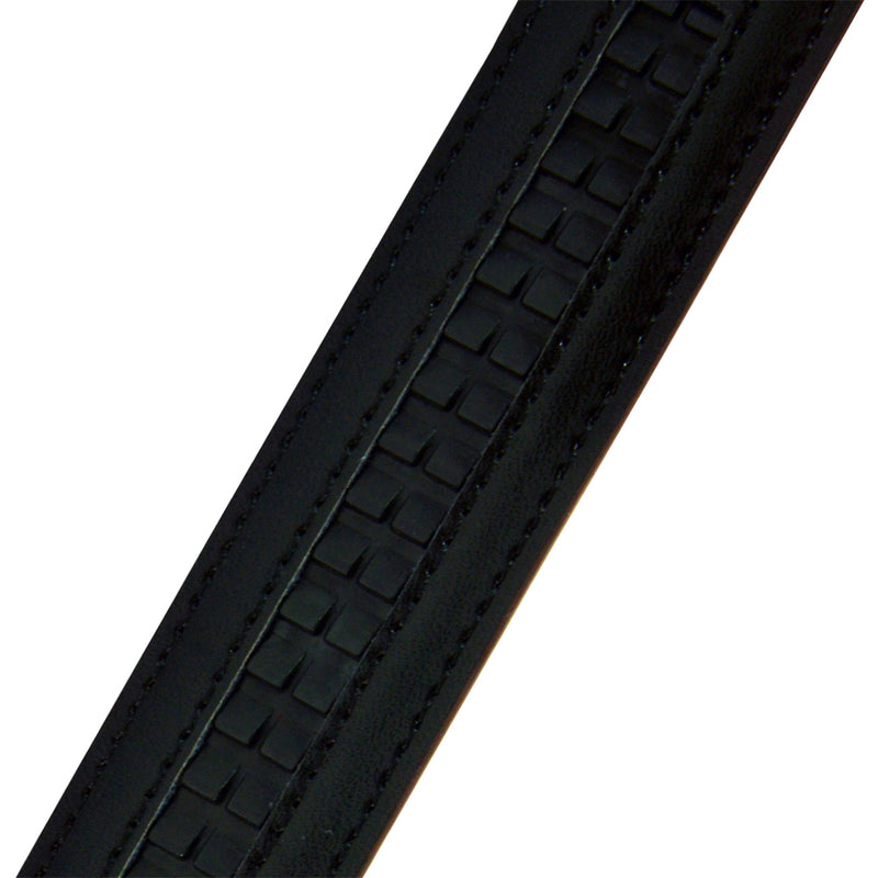 Auto-Lock Leather Belt in Black