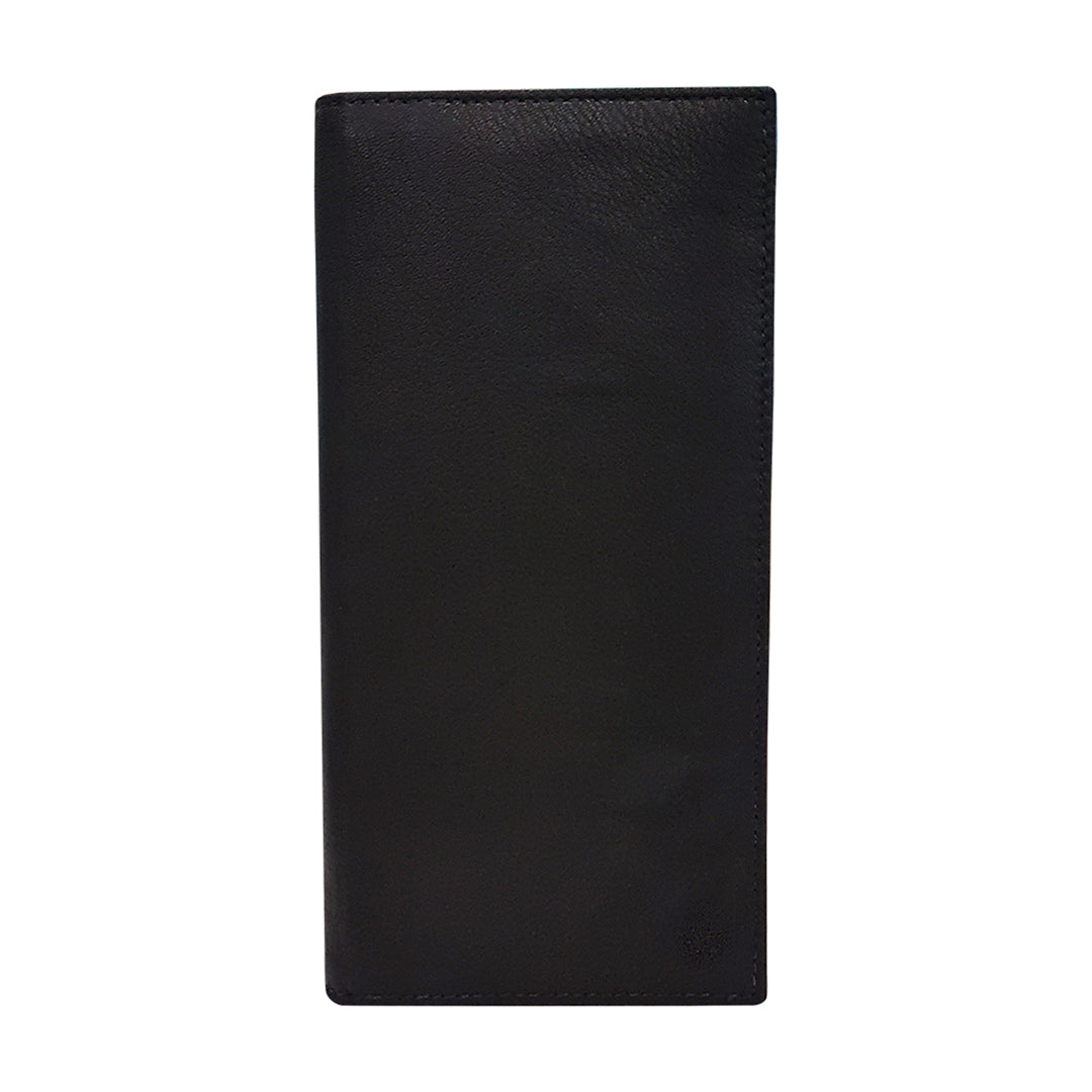 Textured Leather Long Wallet