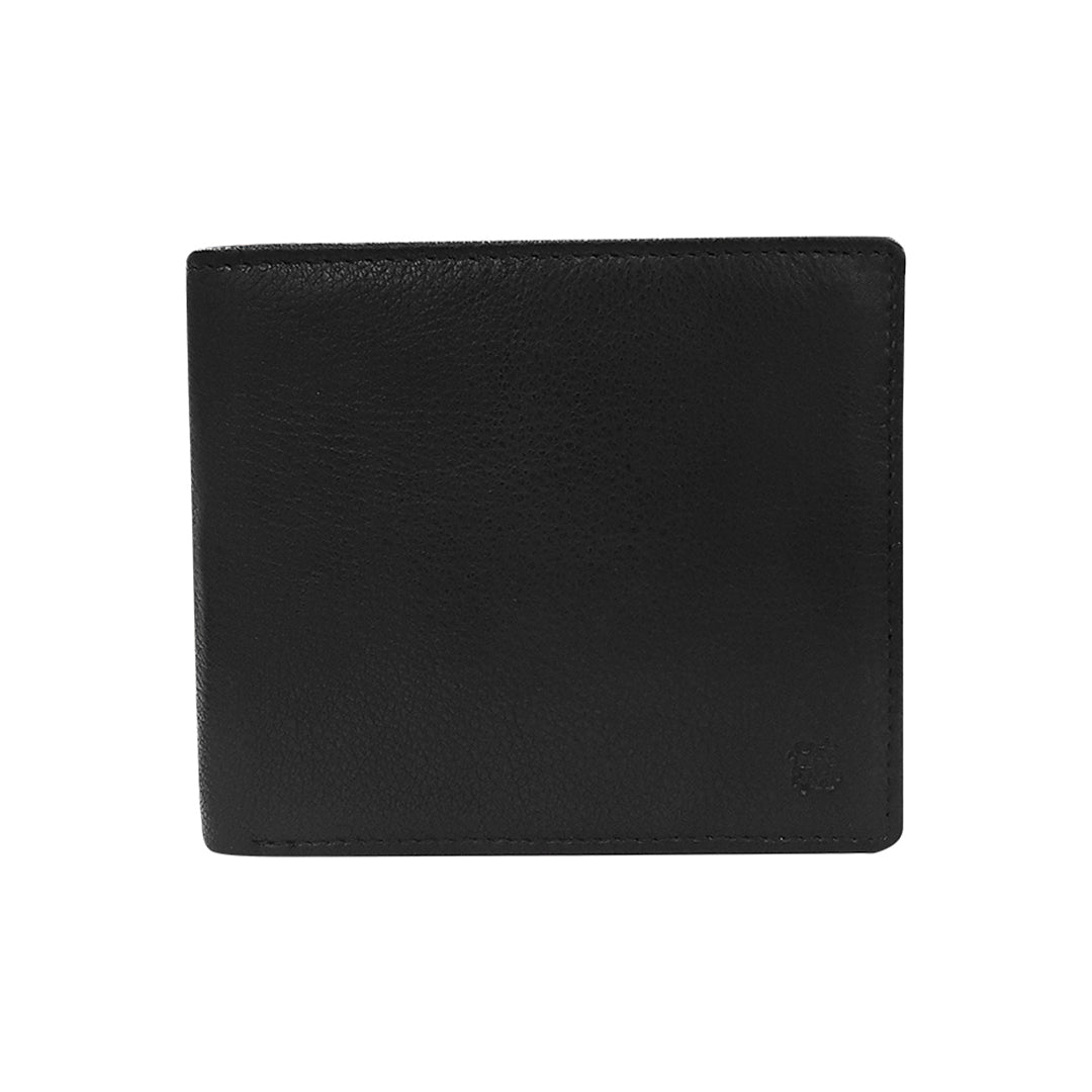 Textured Leather Bi-fold Wallet