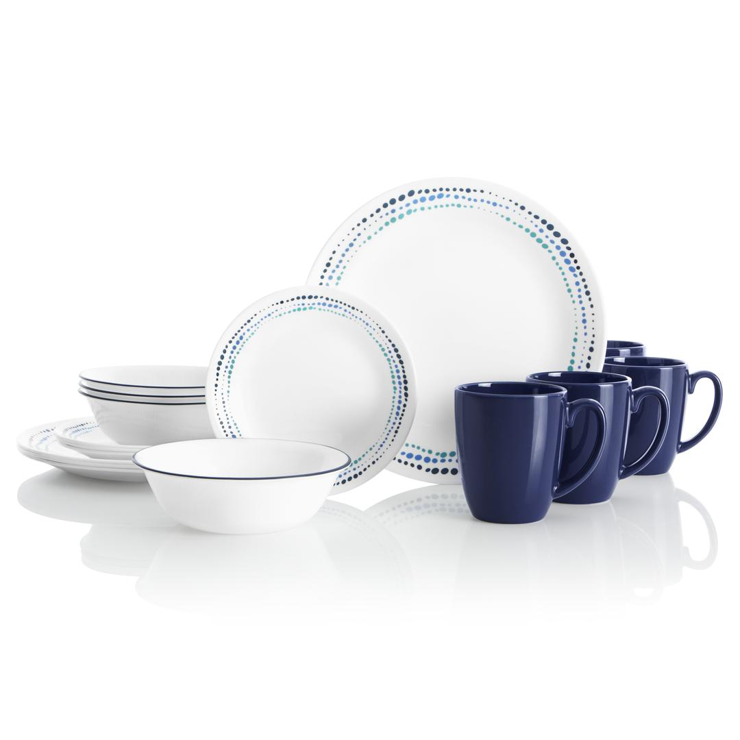 16pc Dinner Set ,  (Ocean Blue)