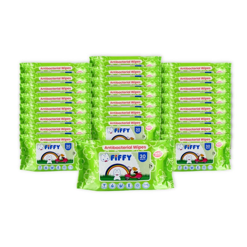 Baby Wipes Antibacterial 30s 24 Packs