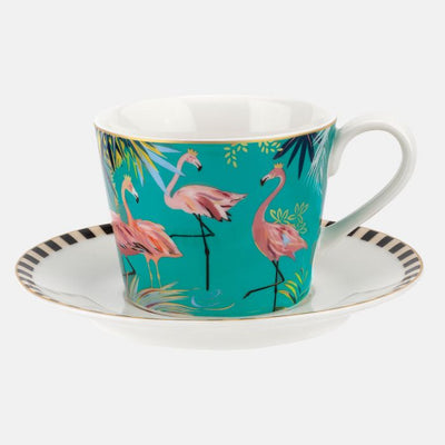 Flamingo Teacup & Saucer