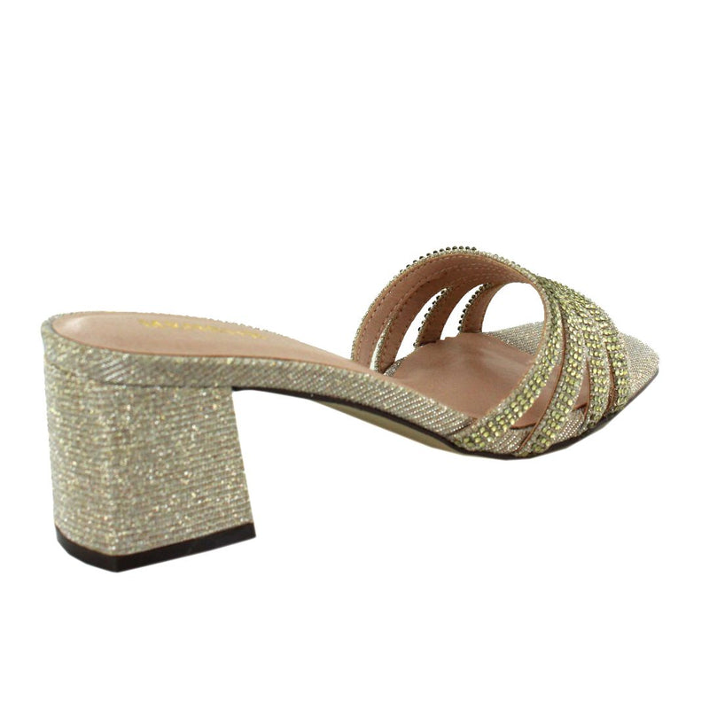 Salitto Slip On Heels (Champagne)
