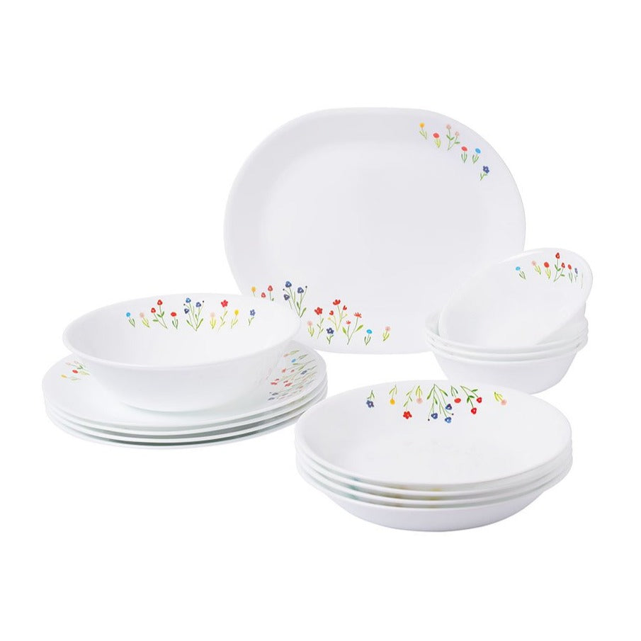 14pc Dinner Set, Flower Hill