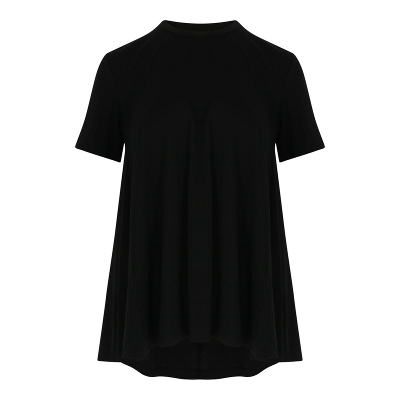 Jersey A Line Top (Black)