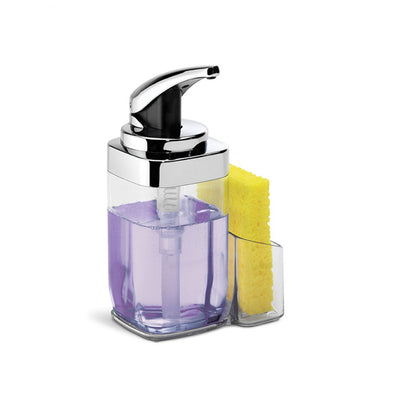 Square push soap pump with caddy