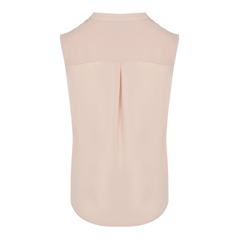 Pin Tuck Sleevless Top (Pink)