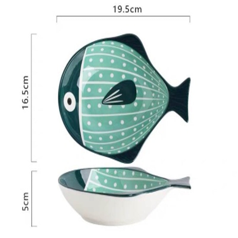 Bowl 8 inch (Pufferfish Green)