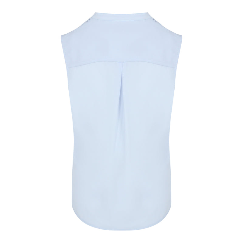 Pin Tuck Sleevless Top (Pastel Blue)