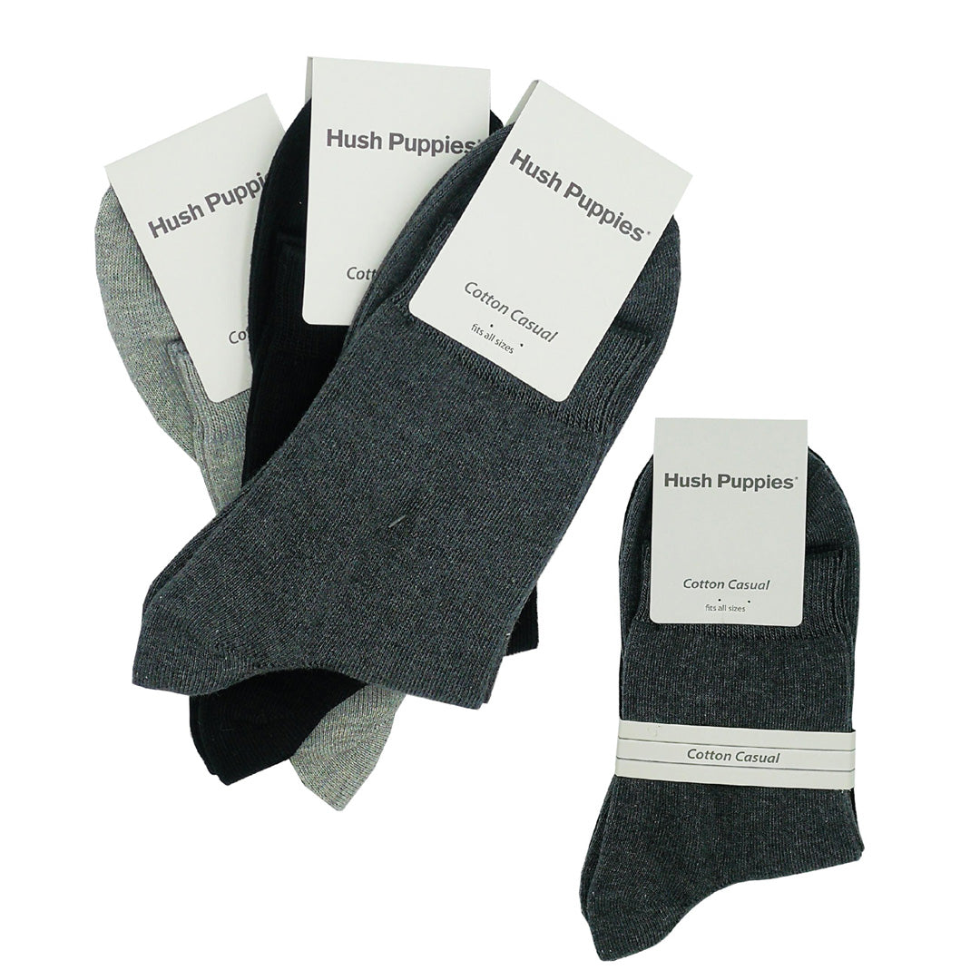 Quarter Socks 3-Pairs (Grey / Dark Grey / Charcoal)