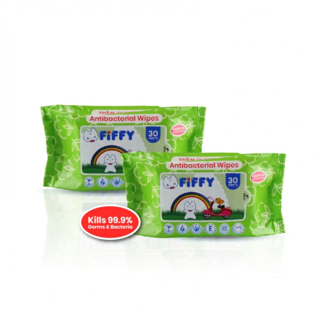 Baby Wipes Antibacterial 30s 2 Packs