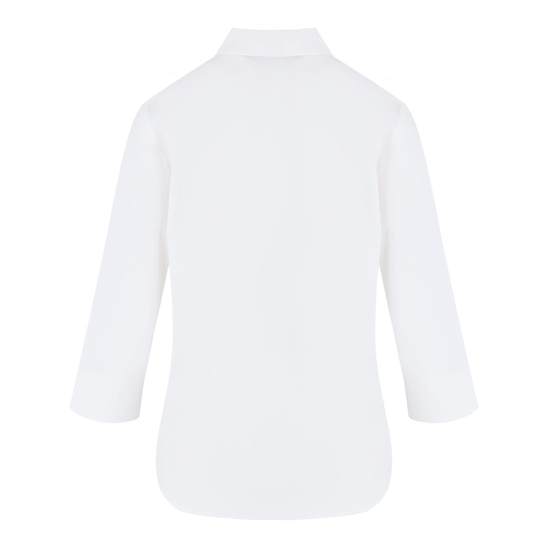Mid Sleeve Shirt (White)