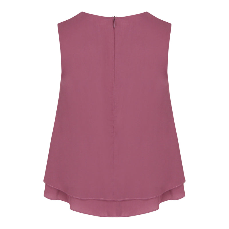 2 Layer Sleeveless Top (Mauve)