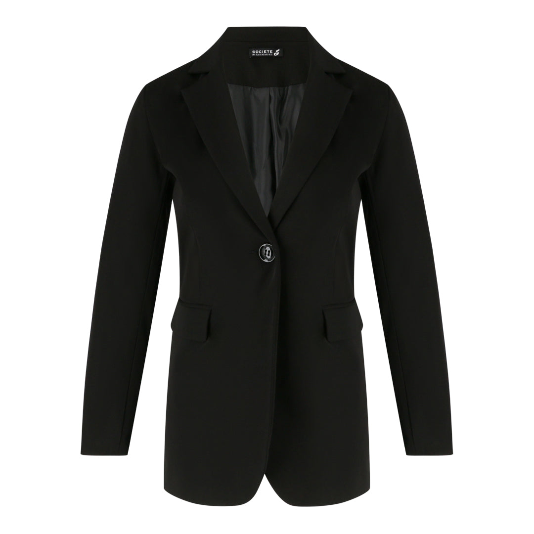 Blazer with Flap Pockets (Black)
