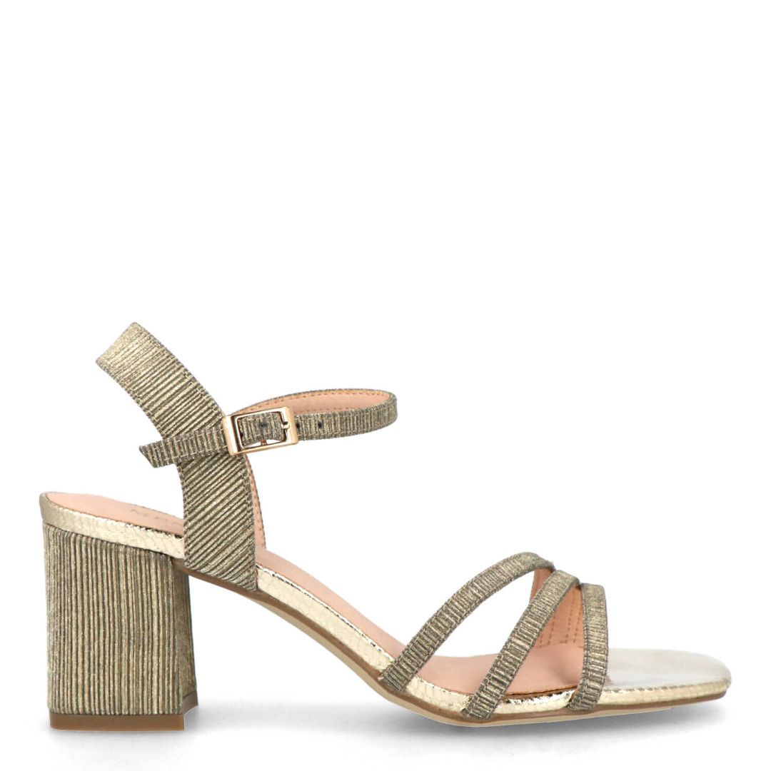 Tedalta Slingback Heeled Sandals (Gold)
