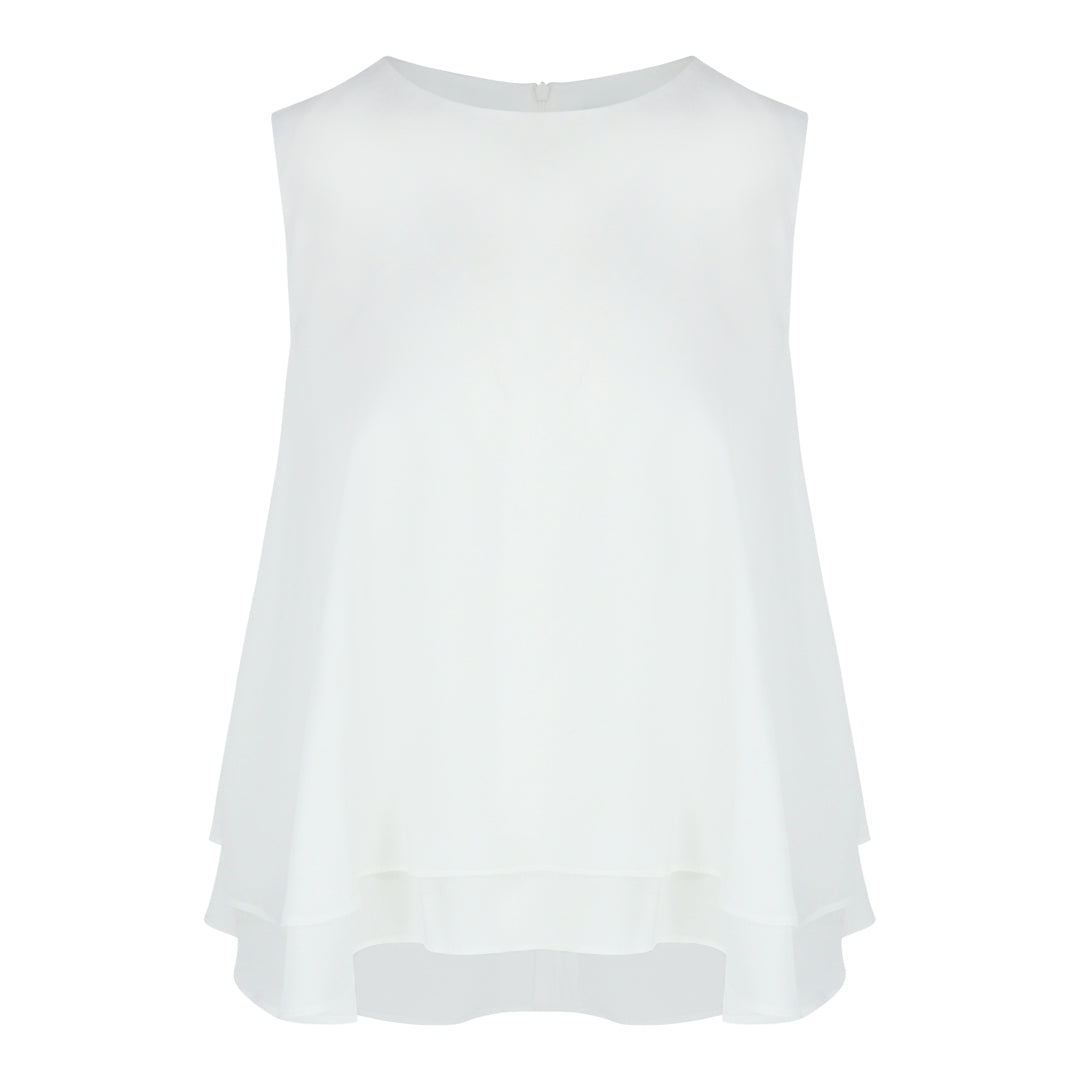 2 Layer Sleeveless Top (White)