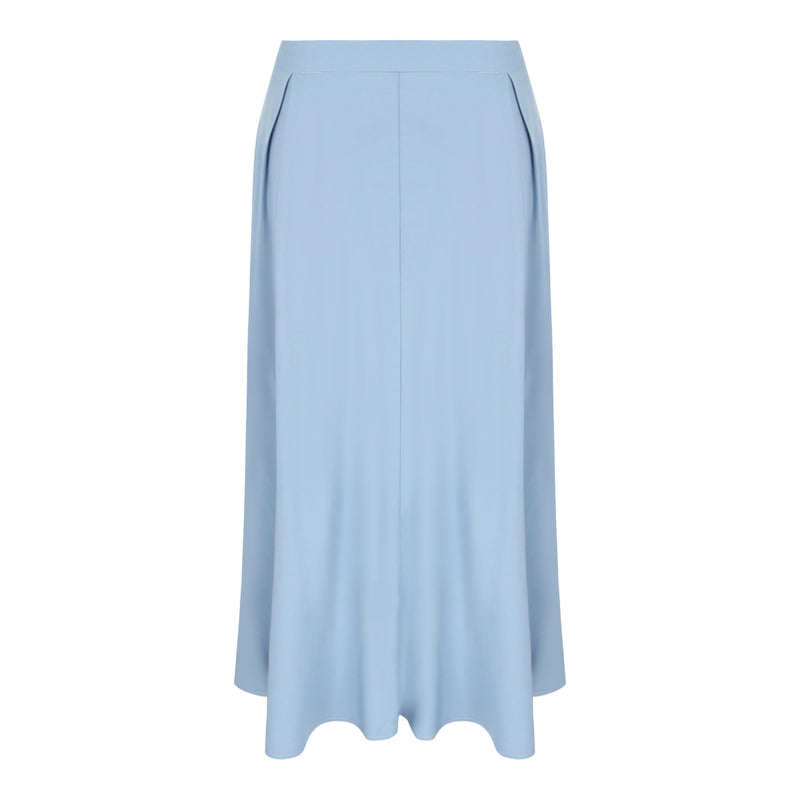 Long Flare Skirt (Dusty Blue)