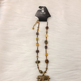 Primary Photo - BRAND: CHICOS O STYLE: NECKLACE COLOR: GOLD OTHER INFO: NO RETURNS - BROWN GREEN W/ SQUARE SKU: 245-245189-17393