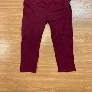 Primary Photo - BRAND:    CLOTHES MENTOR STYLE: ATHLETIC CAPRIS COLOR: RED SIZE: 2X SKU: 245-24518-79054