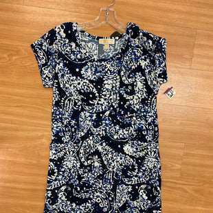 Primary Photo - BRAND: MICHAEL BY MICHAEL KORS STYLE: DRESS SHORT SHORT SLEEVE COLOR: BLUE SIZE: M TIE IN THE BACK DRESS SKU: 245-24513-75802
