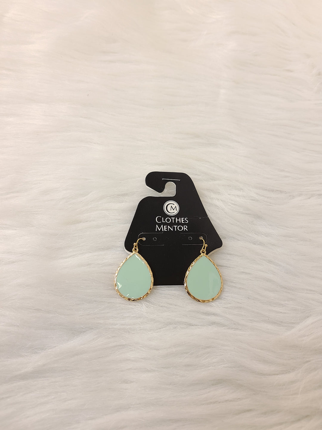 Primary Photo - BRAND:    CLOTHES MENTOR <BR>STYLE: EARRINGS <BR>COLOR: GOLD <BR>OTHER INFO: MINT TEAR DROPS- NO RETURNS <BR>SKU: 245-245199-3826