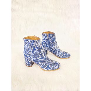 Primary Photo - BRAND: INDIGO RD STYLE: BOOTS ANKLE COLOR: BLUE WHITE SIZE: 6 OTHER INFO: NO RETURNS SKU: 245-24513-83883