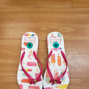 Primary Photo - BRAND: KATE SPADE STYLE: FLIP FLOPS COLOR: WHITE PINK SIZE: 8 OTHER INFO: NO RETURNS SKU: 245-24518-77609