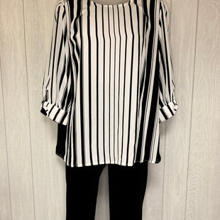 Primary Photo - BRAND: WORTHINGTON STYLE: TOP LONG SLEEVE COLOR: WHITE BLACK SIZE: M OTHER INFO: NWT $37 SKU: 245-24511-15540