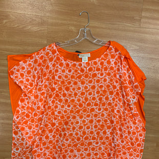 Primary Photo - BRAND: MICHAEL BY MICHAEL KORS STYLE: TOP SHORT SLEEVE COLOR: WHITE ORANGE SIZE: L SKU: 245-245189-16612