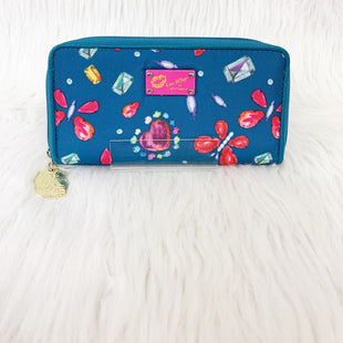 Primary Photo - BRAND: BETSEY JOHNSON STYLE: WALLET COLOR: TURQUOISE SIZE: MEDIUM OTHER INFO: W/ PINK YELLOW PURPLE NO RETURNS SKU: 245-24518-75307