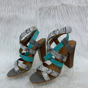 Primary Photo - BRAND:   CMC STYLE: SANDALS LOW COLOR: SNAKESKIN PRINT SIZE: 9.5 OTHER INFO: LEILA STONE W TURQ SKU: 245-24513-79477