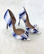 Primary Photo - BRAND: BETSEY JOHNSON <BR>STYLE: SHOES HIGH HEEL <BR>COLOR: BLUE WHITE <BR>SIZE: 9 <BR>OTHER INFO: NO RETURNS <BR>SKU: 245-245199-2572